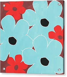 Big Blue Flowers Acrylic Print