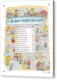 'big Book Of Parent-child Fights' Acrylic Print by Roz Chast