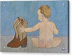 Big Boots To Fill Acrylic Print by Ella Kaye Dickey