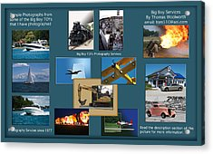 Big Boy Toys Photography Services Acrylic Print by Thomas Woolworth