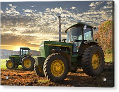 Big Boys' Toys Acrylic Print by Debra and Dave Vanderlaan