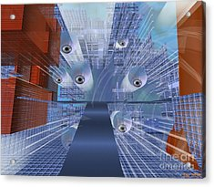 Acrylic Print featuring the digital art Big Brother Is Watching by Susanne Baumann