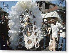 Big Chief Mardi Gras Indian Acrylic Print by Christopher R Harris