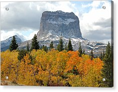 Big Chief Mountain - The Rock Of Legend Acrylic Print by Clay and Gill Ross