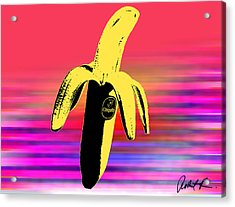 Big Chiquita Bannana On Canvas By Robert R Signed Acrylic Print