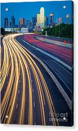 Big D Freeway Acrylic Print by Inge Johnsson