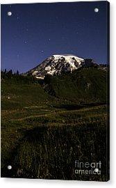 Big Dipper Over Mt Rainier Acrylic Print
