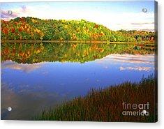 Big Ditch Lake West Virginia Acrylic Print by Thomas R Fletcher