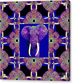 Big Elephant Abstract Window 20130201m118 Acrylic Print by Wingsdomain Art and Photography