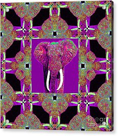 Big Elephant Abstract Window 20130201m68 Acrylic Print by Wingsdomain Art and Photography