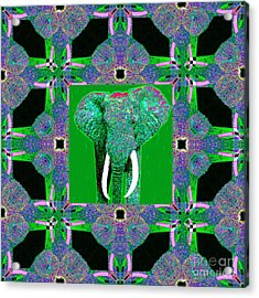 Big Elephant Abstract Window 20130201p128 Acrylic Print by Wingsdomain Art and Photography