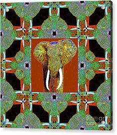 Big Elephant Abstract Window 20130201p20 Acrylic Print by Wingsdomain Art and Photography