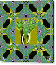 Big Elephant Abstract Window 20130201p60 Acrylic Print by Wingsdomain Art and Photography