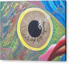 Big Eyed Fish Acrylic Print by Nina Giordano