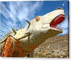 Big Fake Dinosaur - 02 Acrylic Print by Gregory Dyer