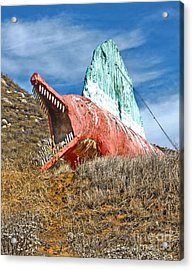 Big Fake Dinosaur  Acrylic Print by Gregory Dyer