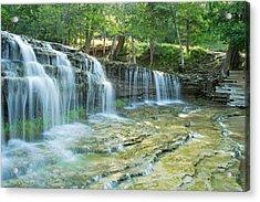 Big Falls Acrylic Print by Jill Laudenslager
