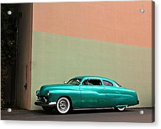 Big Green Merc Just Around The Corner Acrylic Print