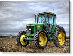 Big Green Tractor Acrylic Print by Robert Jones