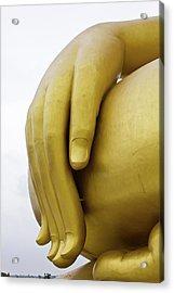 Big Hand Buddha Image Acrylic Print