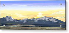 Big Hole Beaverhead Mountains Acrylic Print