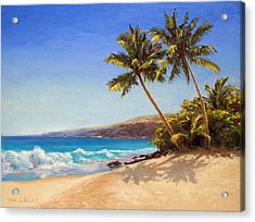 Hawaiian Beach Seascape - Big Island Getaway  Acrylic Print