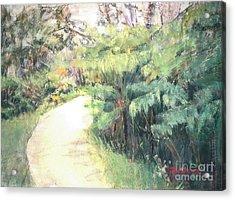 Big Island Pathway Acrylic Print by Mary Lynne Powers