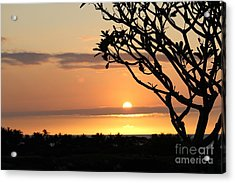 Big Island Sunset All Profits Go To Hospice Of The Calumet Area Acrylic Print