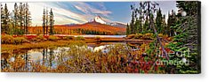 Big Lake And Mt Washington Oregon Acrylic Print