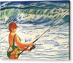 Big Momma Fishin' Acrylic Print by Frank Giordano
