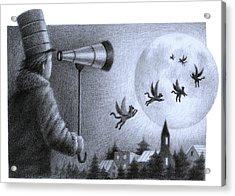 Big Moon Acrylic Print by Steve Dininno