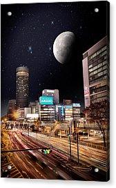 Big Moon Yokohama Acrylic Print