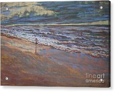 Big Ocean  Little Boy Acrylic Print