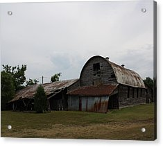 Big Old Barn Acrylic Print by Terry Scrivner