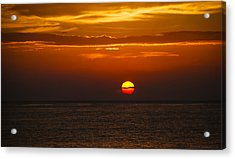 Acrylic Print featuring the photograph Big Orange Ball by Phil Abrams