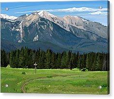 Big Prairie Trail Junction Acrylic Print