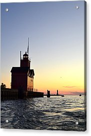 Big Red At Sunset Acrylic Print by Michelle Calkins