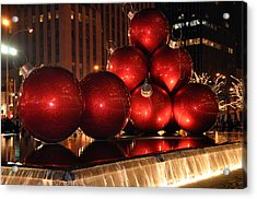 Acrylic Print featuring the photograph Big Red Balls by Jim Poulos