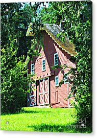 Big Red Barn Acrylic Print by Mindy Bench