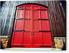 Big Red Doors Acrylic Print by Cheryl Young