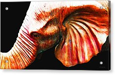 Big Red - Elephant Art Painting Acrylic Print