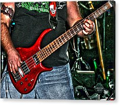 Acrylic Print featuring the photograph Big Red Tobias by Lesa Fine