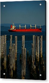 Big Red Acrylic Print by Mamie Gunning