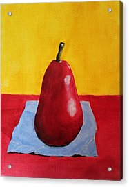 Big Red Pear Acrylic Print by Melvin Turner