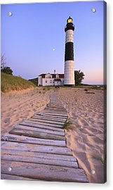 Big Sable Point Lighthouse Acrylic Print by Adam Romanowicz
