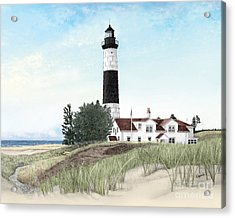 Big Sable Point Lighthouse Acrylic Print by Darren Kopecky