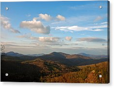 Acrylic Print featuring the photograph Big Sky In Cashiers by Allen Carroll