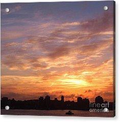Big Sky Over Halifax Harbour Acrylic Print by John Malone