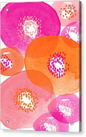 Big Spring Flowers- Contemporary Watercolor Painting Acrylic Print