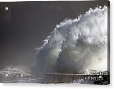 Big Storm Wave Acrylic Print by Boon Mee